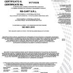 Certificato ISO 9001:2015 - Re-Cart